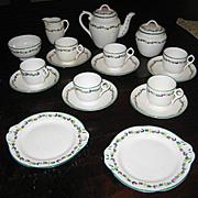 Rare Minton Delicate Flower Band English antique toy tea set