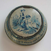 Antique German tin litho child's coin or bug holder