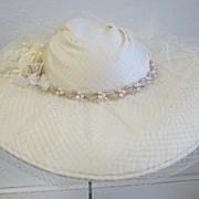 Vintage Antique look Ivory Wedding hat Laura Ashley
