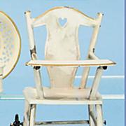 Antique German Marklin small tin folding doll high chair