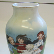 Royal Bayreuth Ring Around the Rosie antique vase