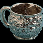 SALE Dominick & Haff Sterling silver shaving mug