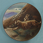 SALE Blown Out Nippon Charger with Lions