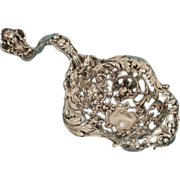 SALE Very Heavy Gorham Sterling Silver Reticulated Serving Ladle