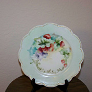 Haviland France Strawberry Decorated Plate