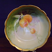 Antique Limoges Porcelain bowl with Oranges
