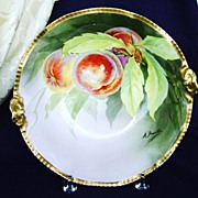 Antique Limoges Handpainted Bowl with Peaches