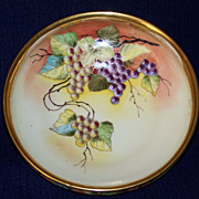 Antique Pickard Bowl with Grapes by Beutlich
