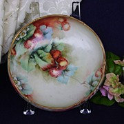 Antique Limoge Handpainted Bowl with Strawberries