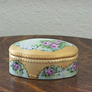 SALE Handpainted Trinket Box