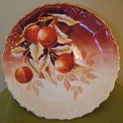 REDUCED Antique Charger by Marsay with Cherries