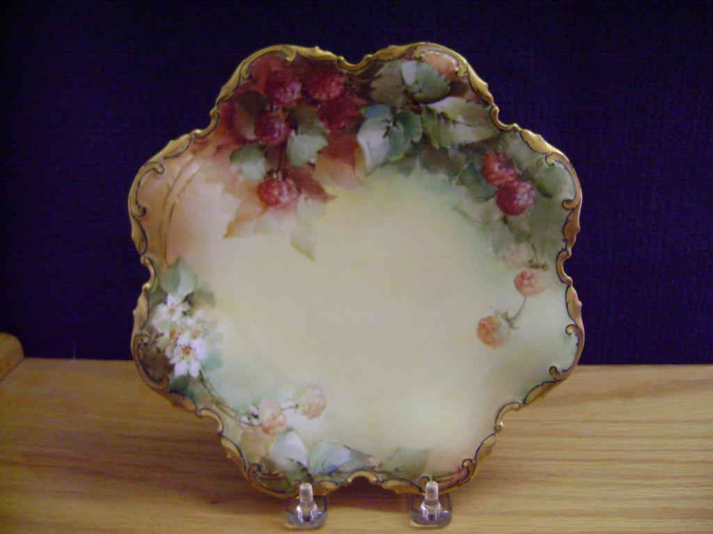 Vintage Limoges Handpainted Plate with Berries