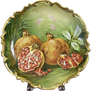 SALE Antique Limoges Wall Plaque with Pomegranates