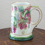 Vintage Limoges Handpainted Tankard Mug with Blackberries