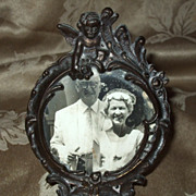 Nice Metal Frame With Cherub
