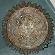 Early Advertising Bush Hog Tin Bottle Cap