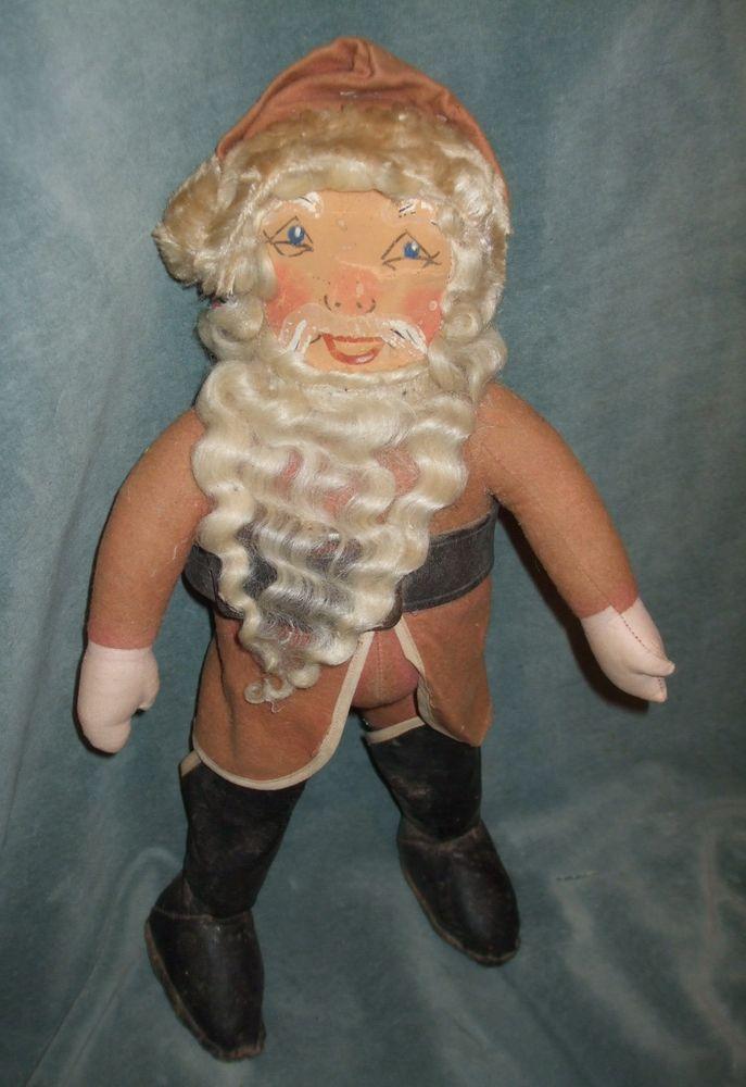 Sweet Old Pot Bellied Santa Claus Rag Doll