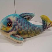 Steiff's Medium Sized Flossy Fish With ID