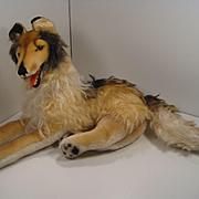 Steiff's Larger Lying Collie Dog