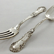 Superb very heavy set of Austrian 800 silver fork and spoon