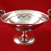 German 800 silver bowl with snake handles, early 1800s