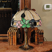 Pittsburgh Art Nouveau Leaded Slag Glass Lamp