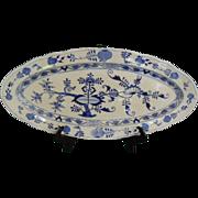 """Antique Meissen """"Blue Onion"""" Fish Platter"""