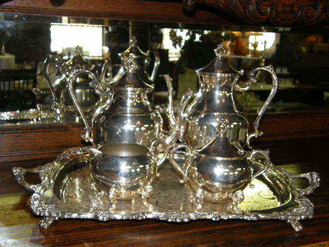 Coffee or Tea Service/ Silver on Copper