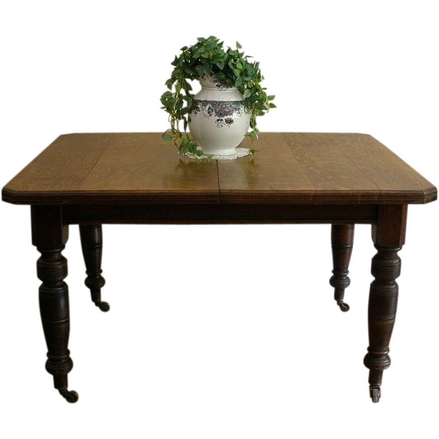 Antique Dining Table,  English Oak Extending, Wind Out.