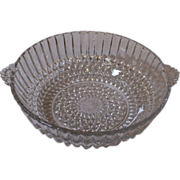 Vintage pressed glass bowl. English.