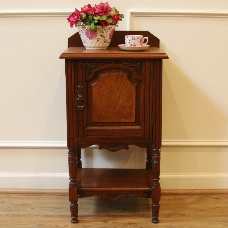 Antique English Mahogany Pot Cupboard, Side Cabinet Table.- FREE SHIPPING-