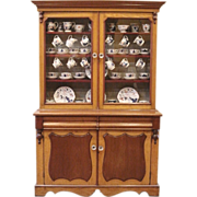 Antique China Cabinet, Mahogany & Oak Welsh Dresser, Kitchen Hutch. English.