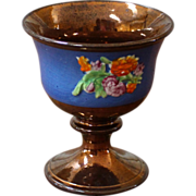 Antique English Copper Luster Goblet