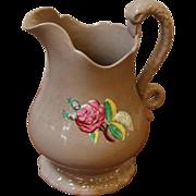 Antique Ceramic Jug, Swan Handle, English.