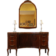 Antique Vanity, Dressing Table, Rosewood and Mahogany.