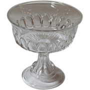 Vintage American Pressed Glass Compote, Footed Bowl.