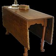 Antique Harvest Dining Table, Large Walnut Gate Leg, Drop Leaf.