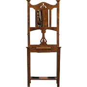Antique English Oak Hall Stand, Arts and Crafts C.1900.