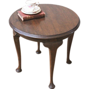 Antique Side Table, Queen Anne, English Mahogany.