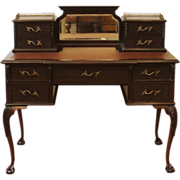 Antique Chippendale Desk, Ladies Writing Table. English, Carved Mahogany.