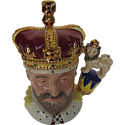 Royal Doulton King Edward VII Toby Mug Modeled by William K. Harper and Hand Decorated Limited Edition and Numbered