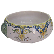 Vintage Mont St Michel Faience Bowl with Gourd Handles