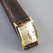 PROFESSIONALLY RESTORED and SERVICED- Vintage Art Deco 14k gold Gruen Curvex Precision 3 diamond dial tank wrist watch 35mm 1940