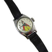 NEEDS SERVICED wrist watch vintage Snow White Walt Disney US Time cartoon character girls childs childrens does not run