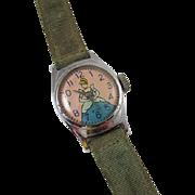 NEEDS SERVICED wrist watch vintage Cinderella Walt Disney US Time cartoon character girls childs childrens does not run