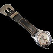 NEEDS SERVICED Vintage Hopalong Cassidy US Time boys cartoon character wrist watch 1950s does not run