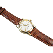 PROFESSIONALLY RESTORED and SERVICED Vintage 1956 wrist watch gold shell and stainless steel Omega Seamaster Automatic Grade 471
