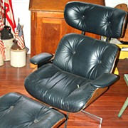 SALE Mid Century Modern SELIG Eames Era Lounge Chair With Ottoman