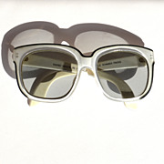Vintage Designer Oversized EMMANUELLE KHAHN Sunglasses, Paris France