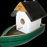 Hand Made Wooden Folk Art Birdhouse - Bird Ark